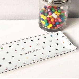 "Williams Sonoma ""Love is Love"" Heart Serving Tray"